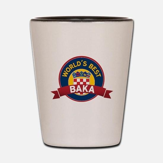 World's Best Baka Shot Glass