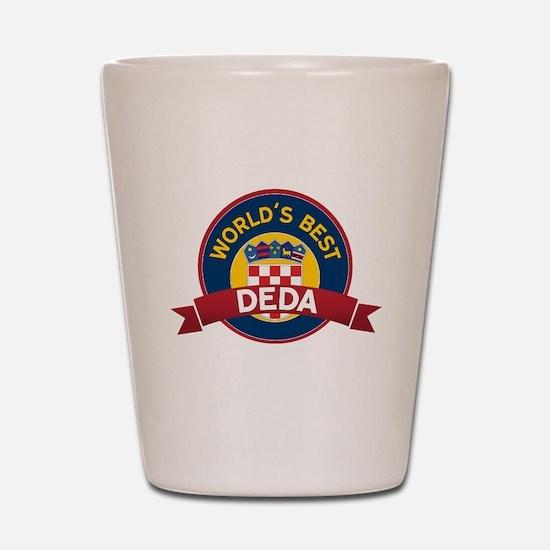 World's Best deda Shot Glass