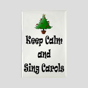Keep Calm And Sing Carols Christmas Tree Magnets