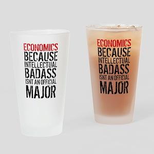 Economic Major Funny Drinking Glass