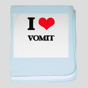 I love Vomit baby blanket