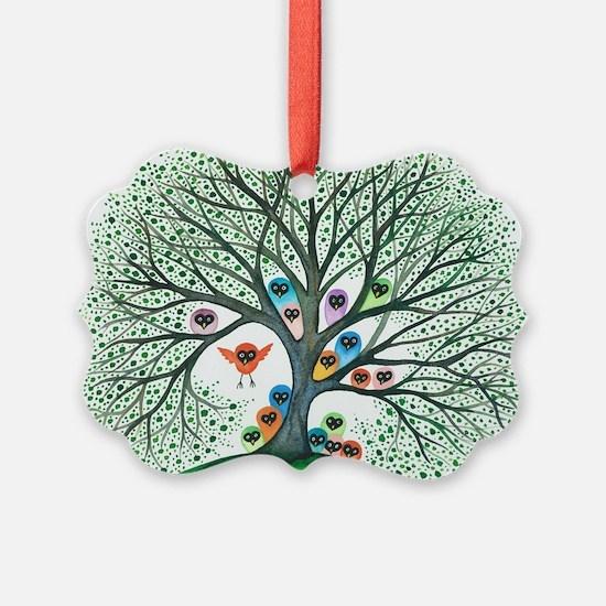 Teton Owls in Tree Ornament