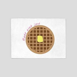 Waffle_Made With Love 5'x7'Area Rug