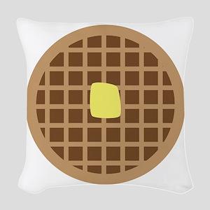 Waffle_Base Woven Throw Pillow