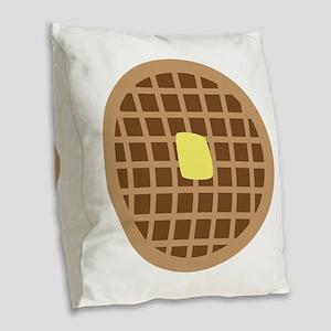 Waffle_Base Burlap Throw Pillow