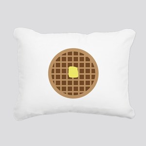 Waffle_Base Rectangular Canvas Pillow