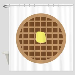 Waffle_Base Shower Curtain