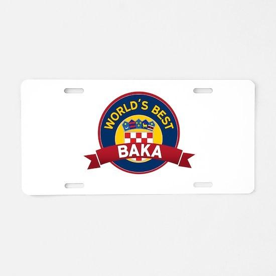 World's Best Baka Aluminum License Plate
