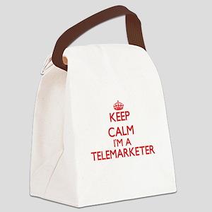 Keep calm I'm a Telemarketer Canvas Lunch Bag