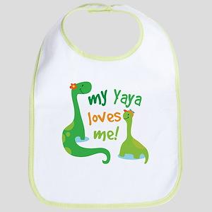 My Yaya Loves Me Dinosaur Bib