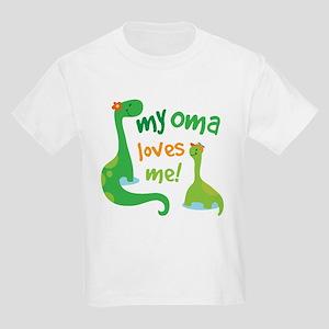 My Oma Loves Me Dinosaur Kids Light T-Shirt