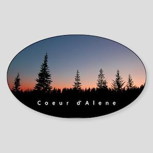Idaho: Coeur d'Alene Sticker (Oval)