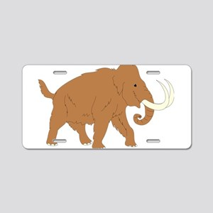 Woolly Mammoth Aluminum License Plate