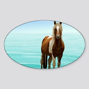 Chincoteague Paint Pony at Surf's Edge Sticker