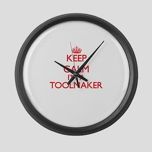 Keep calm I'm a Toolmaker Large Wall Clock