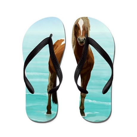 Chincoteague Paint Pony At Surf 39 S Edge Flip Flops By Admin Cp117485507