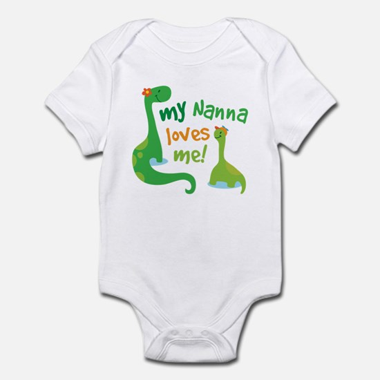 My Nanna Loves Me Dinosaur Infant Bodysuit