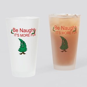 Be Naughty Drinking Glass