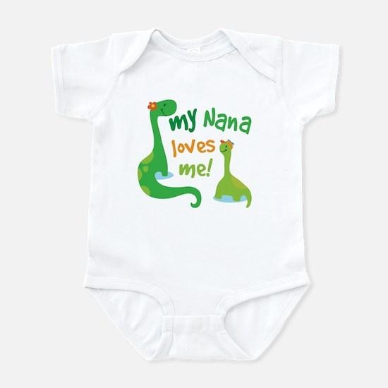 My Nana Loves Me Dinosaur Infant Bodysuit