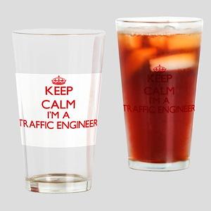 Keep calm I'm a Traffic Engineer Drinking Glass