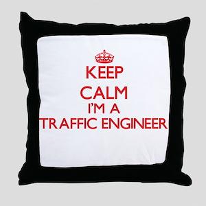 Keep calm I'm a Traffic Engineer Throw Pillow