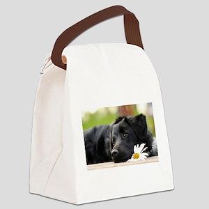 Black Lab Canvas Lunch Bag