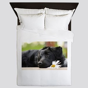 Black Lab Queen Duvet