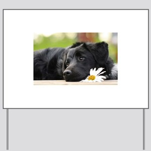 Black Lab Yard Sign