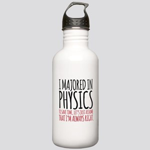 Majored in Physics Fun Stainless Water Bottle 1.0L