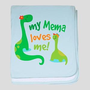 My Mema Loves Me Dinosaur baby blanket