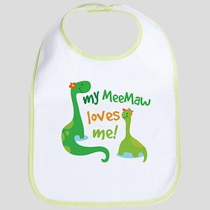 My MeeMaw Loves Me Dinosaur Bib