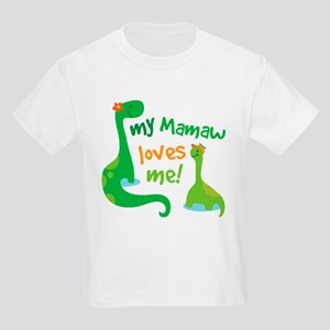 My Mamaw Loves Me Dinosaur Kids Light T-Shirt