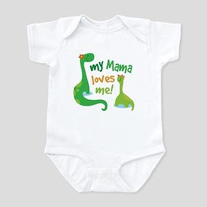 My Mama Loves Me Dinosaur Infant Bodysuit