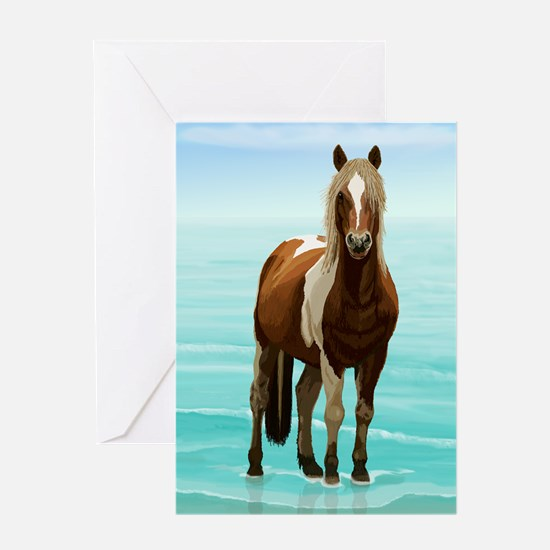 Chincoteague Paint Pony at Surf's E Greeting Cards