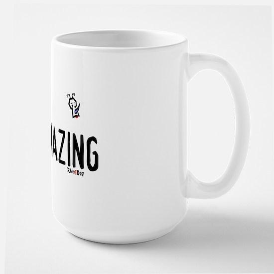 i'm amazing rhino Large Mug