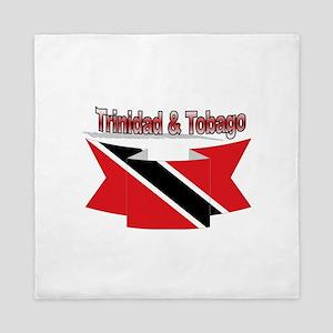 Trinidad flag ribbon Queen Duvet