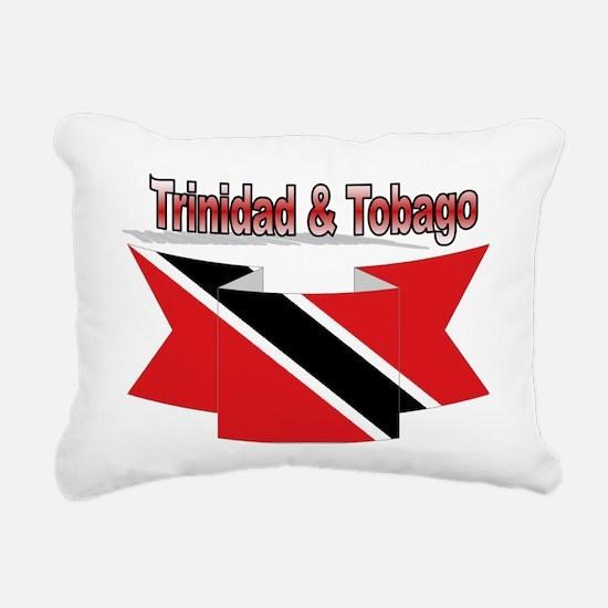 Trinidad flag ribbon Rectangular Canvas Pillow