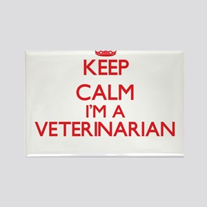 Keep calm I'm a Veterinarian Magnets