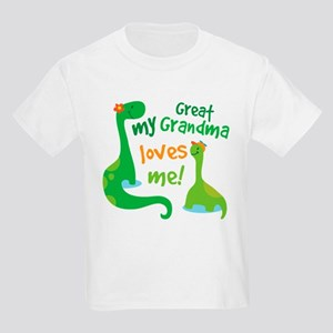 My Great Grandma Loves Me Kids Light T-Shirt