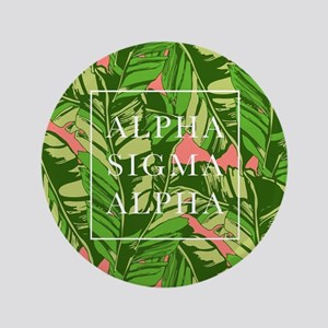 "Alpha Sigma Alpha Banana Leaves 3.5"" Button"