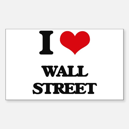 I love Wall Street Decal