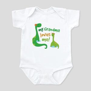 My Grandma Loves Me Dinosaur Infant Bodysuit