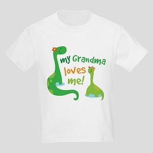 My Grandma Loves Me Dinosaur Kids Light T-Shirt
