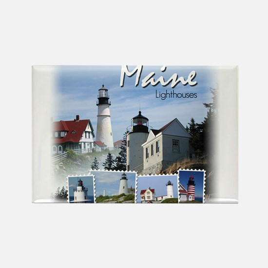 Cute Lighthouses Rectangle Magnet