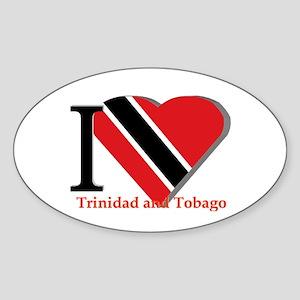 I love Trinidad Sticker (Oval)