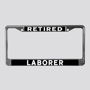 Laborer License Plate Frame