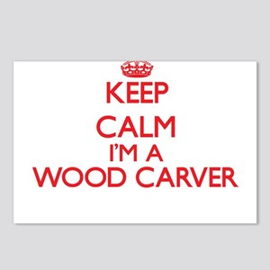 Keep calm I'm a Wood Carv Postcards (Package of 8)