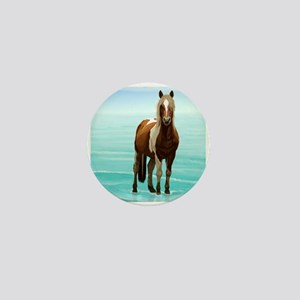 Chincoteague Paint Pony at Surf's Edge Mini Button
