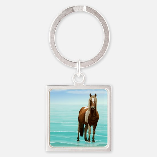 Chincoteague Paint Pony at Surf's Edge Keychains