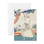 Art Deco Greyhound Greeting Cards
